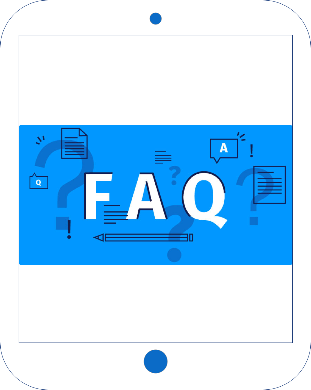 FAQ Ipad image